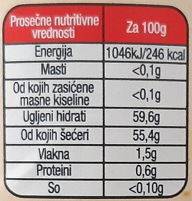 Ekstra džem šumsko voće - Informations nutritionnelles - sr