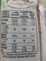 Protein bars - Pumpkin - Nutrition facts - en