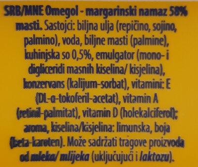 Omegol - Ingredients - sr