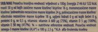 Omegol - Nutrition facts - sr