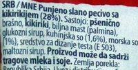 Štark prima kikiriki - Inhaltsstoffe - sr