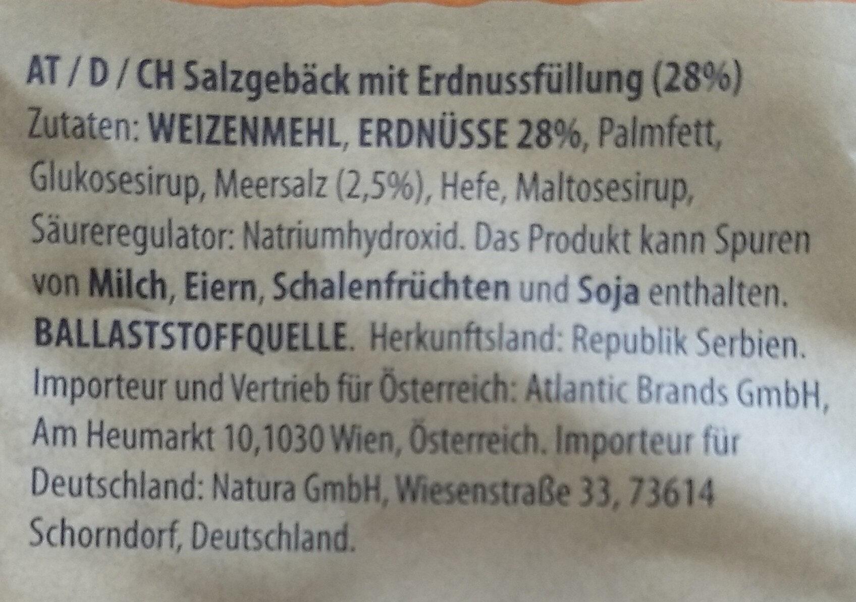 Prima erdnuss - Ingrédients - de