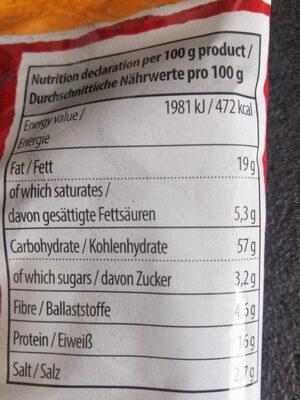 Prima erdnuss - Informations nutritionnelles - fr
