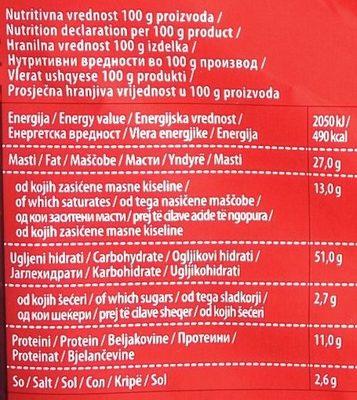 Smoki fun pizza - Nutrition facts