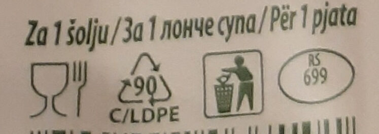 Quik instant pileća supa - Recycling instructions and/or packaging information - sr