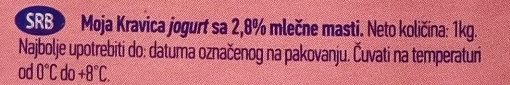 Moja kravica jogurt sa 2.8% m.m. - Ingredients - sr