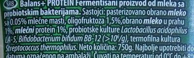 Balans protein - Ingredients - sr
