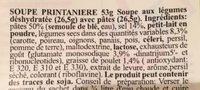 Soupe printanière - Ingrediënten
