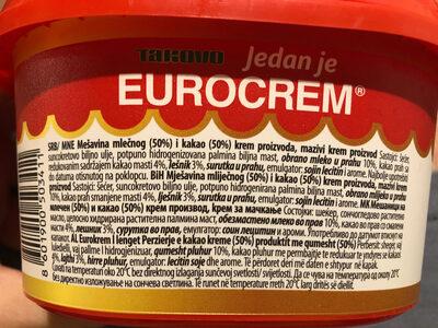 Eurocream - Ingredients - en