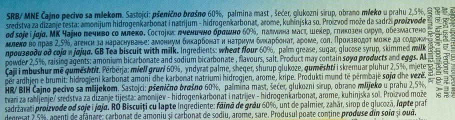 Euro keksic - Ingredients - sr