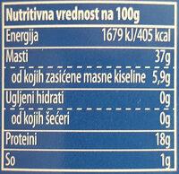Tuna komadi u biljnom ulju - Nährwertangaben - sr