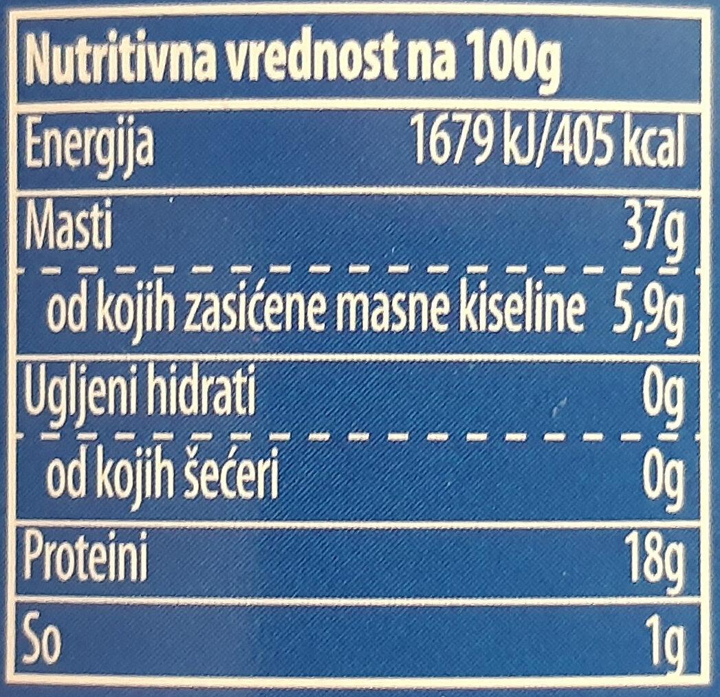 Tuna komadi u biljnom ulju - Valori nutrizionali - sr