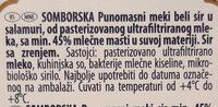 Somborska - Ingrédients - sr