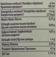 Tomatello - Nutrition facts - sr
