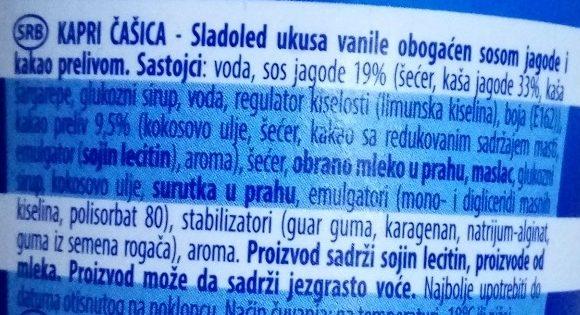 Kapri čašica - Ingredients - sr