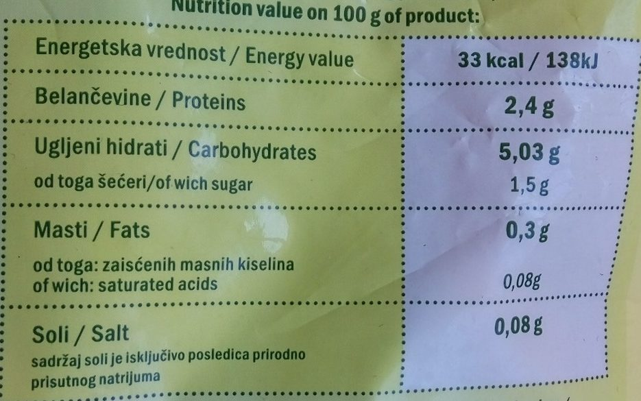 Baby mix - Informations nutritionnelles - sr
