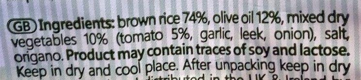 Rice snack tomate - Ingredients - en