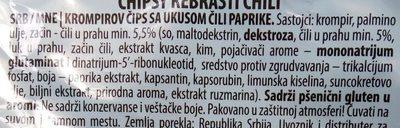Rebrasti chili - Ingredients - sr