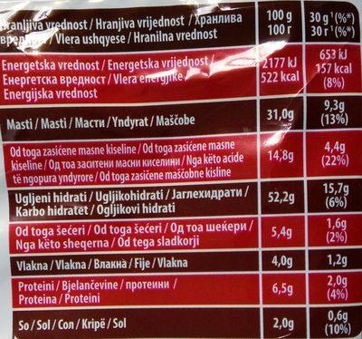 Rebrasti chili - Nutrition facts - sr