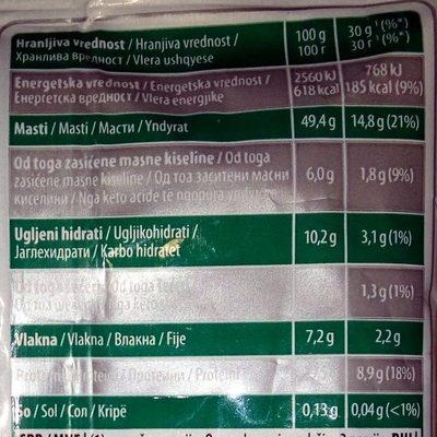 Diet kikiriki pečeni - Nutrition facts - sr
