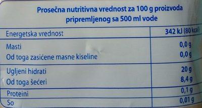 C Letnje kocke sa ukusom jagode - Informations nutritionnelles