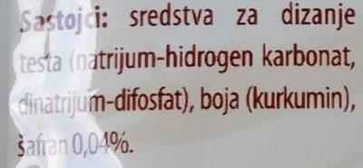 Prašak za pecivo sa šafranom - Ingrédients