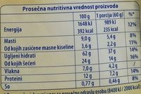 Ovsena kaša sa šumskim voćem - Nutrition facts - sr