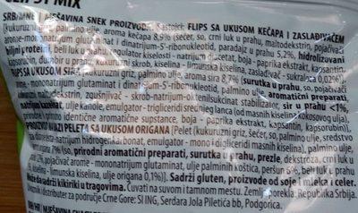 MIX sir, origano, kečap - Ingredients - sr
