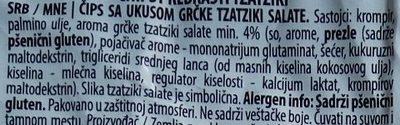 Rebrasti tzatziki - Inhaltsstoffe - sr