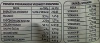 Moja ovsena kaša slana - Nutrition facts - sr