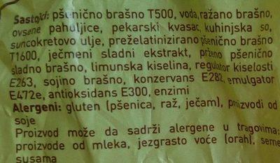 Moravski hleb - Zutaten - sr