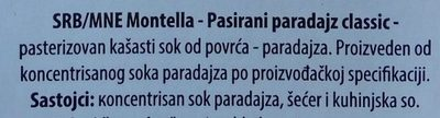 Pasirani paradajz classic - Ingredients - sr