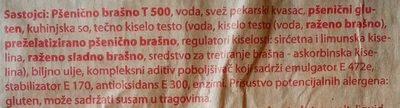 Lalin hleb - Ingredients - sr