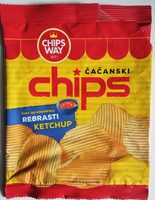 Čačanski chips rebrasti ketchup - Производ - sr