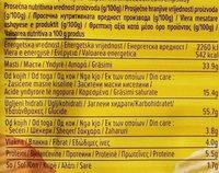 Čačanski chips rebrasti ketchup - Nutrition facts - sr