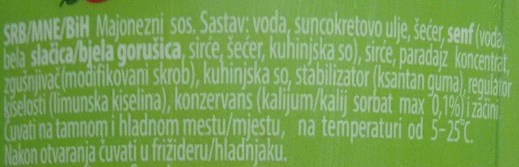 Gurman Delish Sendvič sos - Ingrédients - sr