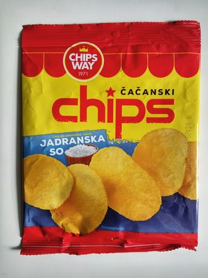 Čačanski chips jadranska so - 2