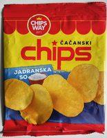 Čačanski chips jadranska so - Product - sr
