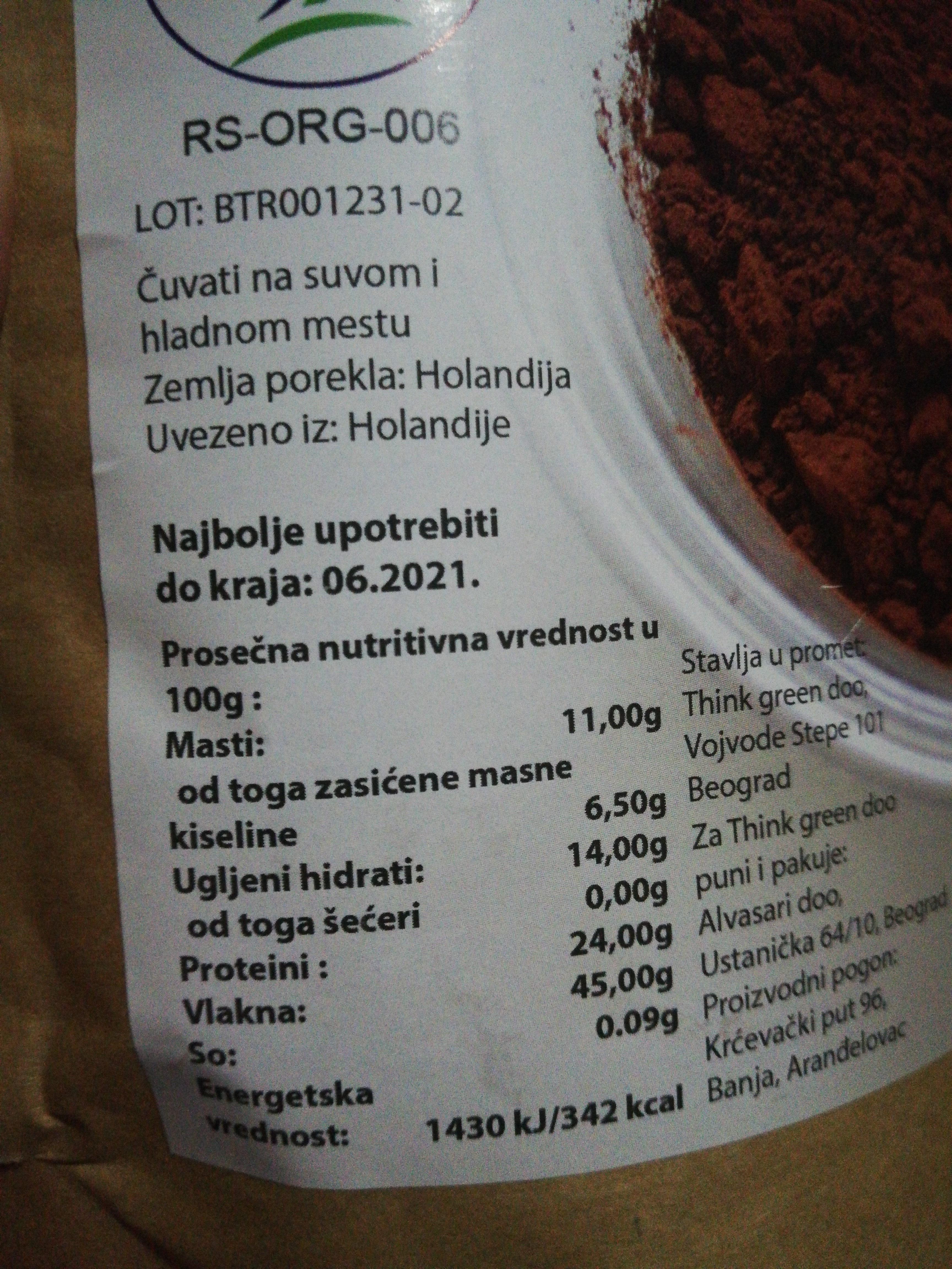 - Ingrediënten - en