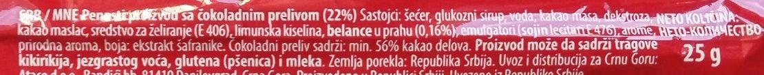 Bananica - Inhaltsstoffe - sr