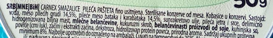 Smazalice pileća pašteta - Ingredients - sr