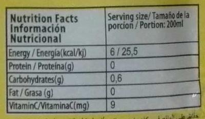 Boisson en poudre Ananas - Informations nutritionnelles