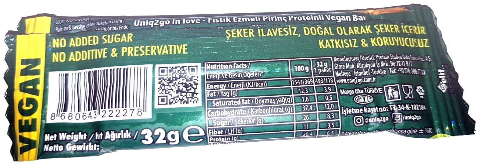 Uniq2go Crunchy Peanutpaste VEGAN - Ürün