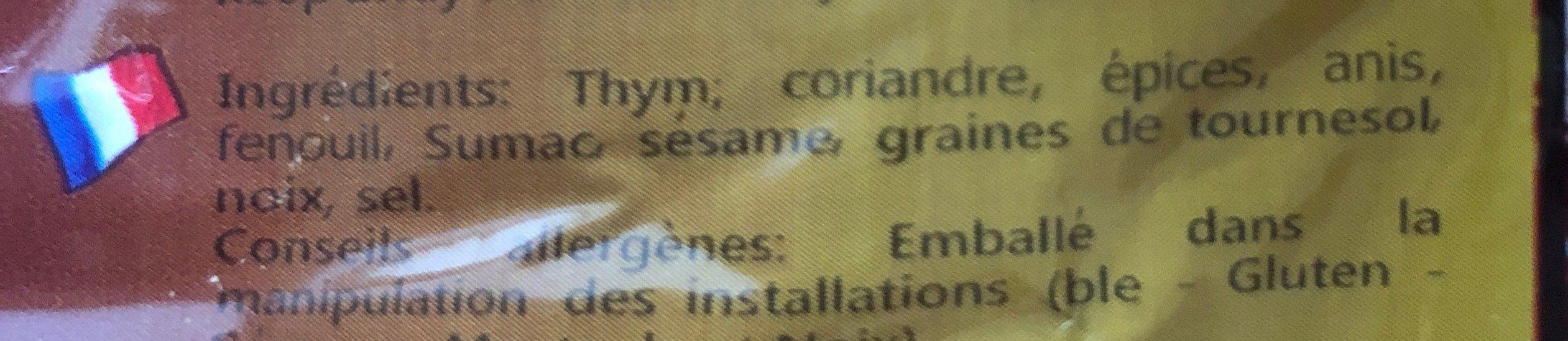 Zaatar - Ingredients