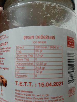 Almond flour - İçindekiler