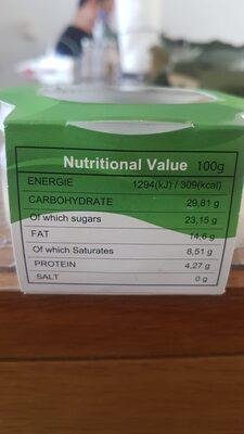 - Voedingswaarden