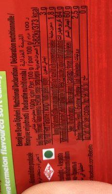 Bebeto Sour Sticks Watermelon - Inhaltsstoffe