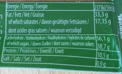 Çikolata - Chocolat au lait avec pistache - Informations nutritionnelles - fr