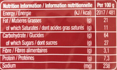 Ikram - Voedingswaarden - fr