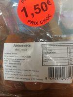 Abricots secs - Product - fr